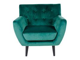 Norrut Mona fauteuil in groen velours.