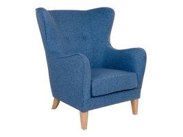 Norrut Carl fauteuil blauw.
