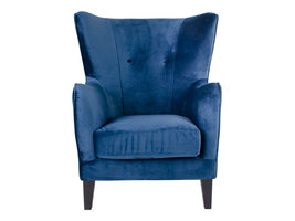 Norrut Carl fauteuil in donkerblauw velours.