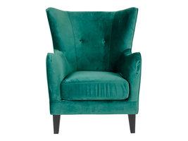 Norrut Carl fauteuil in groen velours.