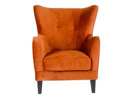 Norrut Carl fauteuil in oranje velours.