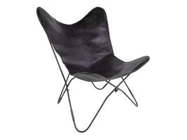 Norrut Cora fauteuil zwart echt leer.