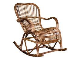 Cerra schommelstoel van natuurlijk rotan.