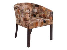 Norrut Hekin fauteuil in leer en mangohout.
