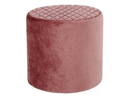 Ejstrup voetenbank in roze velours.