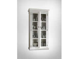 Halifax vitrinekast met 2 glazen deuren, in wit.