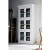 Hioshop Halifax vitrinekast met 6 glazen deuren, in wit.