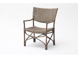 Squire fauteuil in bruin rotan.