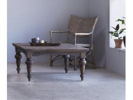 Hygge salontafel, in donker teak hout.