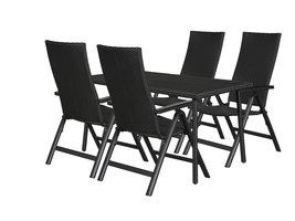 Cassy tuinmeubelset 1 tafel met 4 stoelen.