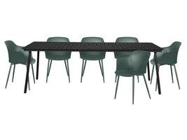 Gell tuinmeubelset 1 tafel met 6 stoelen.
