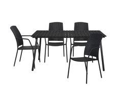 Hioshop Dris tuinmeubelset 1 tafel met 4 stoelen.
