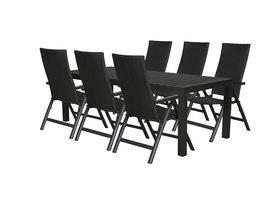 Efour tuinmeubelset 1 tafel met 6 stoelen.