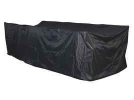 Hioshop Overy tuintoebehor overtrek, tuinmeubelset 300x145x115 cm grijs.