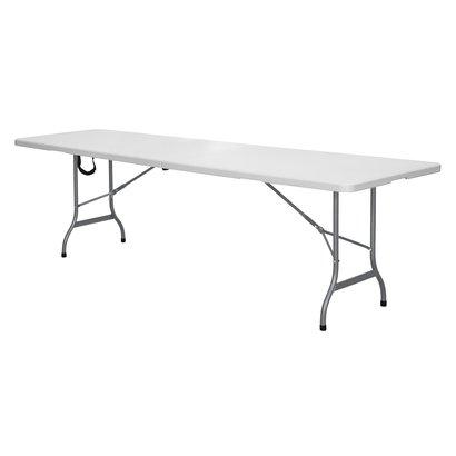 Fie klaptafel, opvouwbaar 240x70 cm grijs/wit.