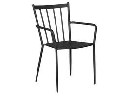 Hioshop Irma 1 x tuinstoel, stapelstoel zwart.