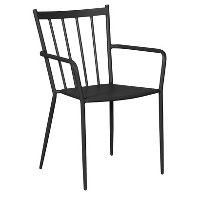 Irma 1 x tuinstoel, stapelstoel zwart.