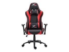 Nordic Gaming Racer gamestoel zwart en rood.