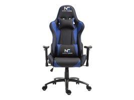 Nordic Gaming Racer gamestoel zwart en blauw.