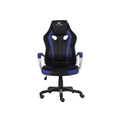 Hioshop Nordic Gaming Challenger gamestoel zwart en blauw.