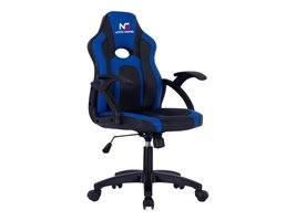 Hioshop Nordic Gaming Little Warrior gamestoel zwart en blauw.