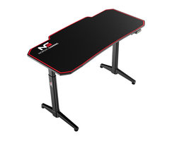 Hioshop Nordic Gaming Elevate gamer tafel zwart.