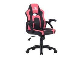Hioshop Nordic Gaming Little Warrior gamestoel zwart en roze.