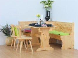 Fraaie Scandinavische houten hoekbank met bergruimte