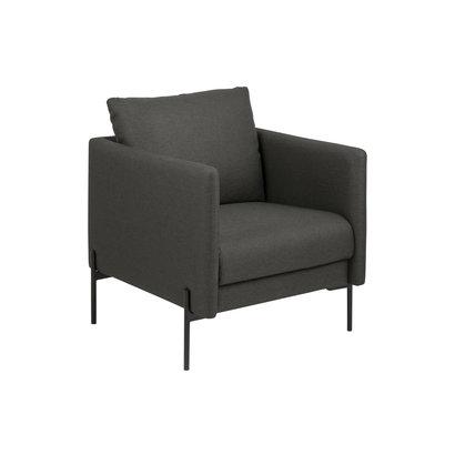 Kimmy fauteuil donkergrijs, zwart.