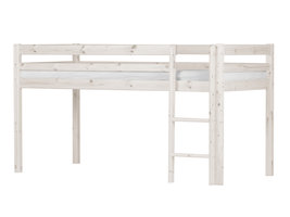 Flexa Basic Hit kinderbed Halfhoogslaper 90x200 cm, wit.