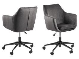 Noel kantoorstoel donkergrijs, zwart.