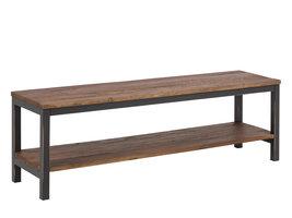 Viby TV-meubel iepenhout, antiek look metaal.