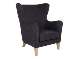 Carl fauteuil donkergrijs.