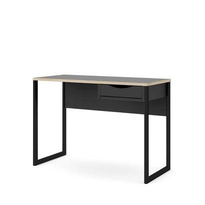 Fula bureau 110 cm 1 lade zwart, mat zwart.