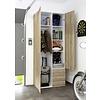 Spell kledingkast 2 deuren, 3 lades eikenstructuur decor.
