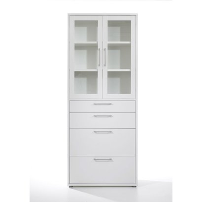 Prisme kantoorbenodigdheden 2 deuren, 4 lades wit.