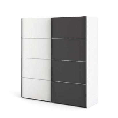Veto kledingkast A 2 deurs H201 cm x B182 cm wit, grijs.