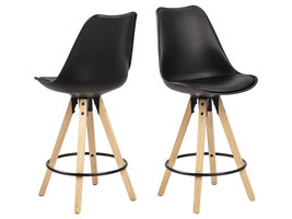 Dry barstoel counterstoel, zwart.