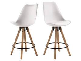 Dry barstoel counterstoel, sneeuwwit.
