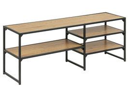 Sea TV-meubel met 3 planken, mat zwart.