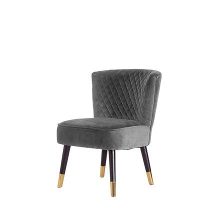 Grit fauteuil grijs velours.