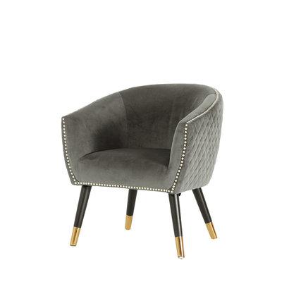 Niles fauteuil grijs velours.