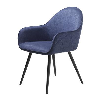 Move eetkamerstoel met armleuningen blauw.