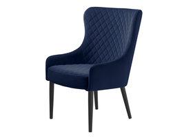 Otis fauteuil blauw velours.