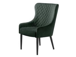 Otis fauteuil groen velours.