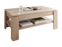Aboma salontafel met 1 plank licht eiken decor.