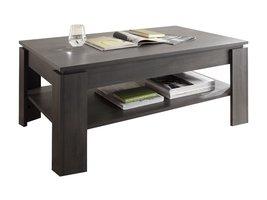 Aboma salontafel met 1 plank essen decor grijs.