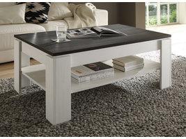 Aboma salontafel met 1 plank wit structuur, touchwood decor.