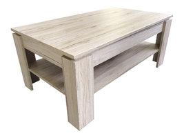 Aboma salontafel met 1 plank eiken decor.