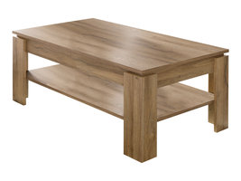 Aboma salontafel met 1 plank oud eiken decor.